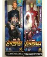 "Lot Avengers Infinity war Titan Hero12"" Action Figure Iron Man Capt Amer... - $19.75"