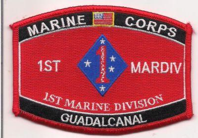 Primary image for USMC 1st Marine Division MOS Guadalcanal Patch