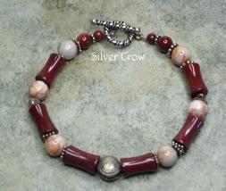 Mookite Gemstone & Sterling Silver Bracelet - $25.99