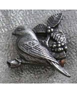 Birds & Blooms 2002 Pewtertone Bird Brooch - $11.00