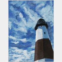 The Lighthouse At Montauk; A Landscape Set In Montauk, New York - $1,000.00
