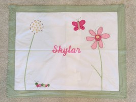 "POTTERY BARN KIDS ""SKYLAR"" RECTANGULAR PILLOW COVER SHAM 20"" X 26"" + 2"" ... - $14.85"