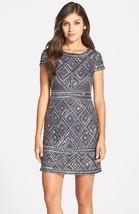 Adrianna Papell Beaded Mesh Sheath Dress Sz 6 - $150.92