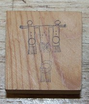 Indian Native american looking Wall hanging Rubber Stamp - $13.85