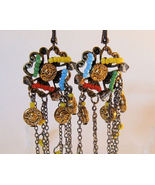Earrings Crystals Chains Beads and Charms - $2.99