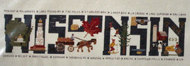 "Counted Cross Stitch Pattern ""Wisconsin"" Sampler - $5.50"