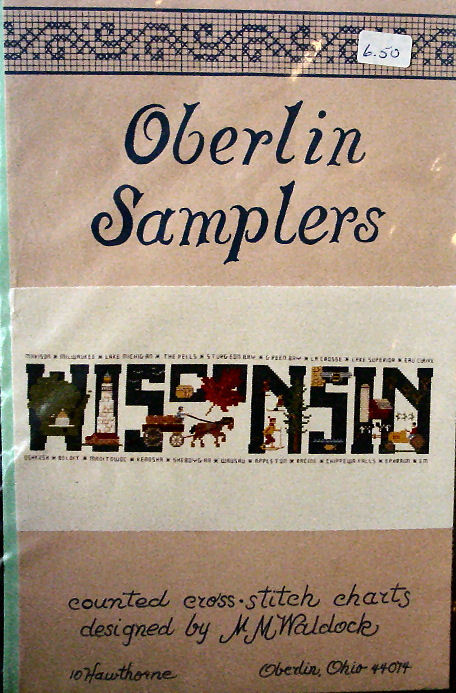 "Counted Cross Stitch Pattern ""Wisconsin"" Sampler"