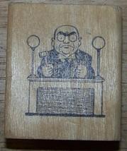 Judge at bench cartoon Rubber Stamp  - $12.00