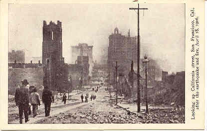 Primary image for California Street San Francisco Earthquake 1906 Post Card