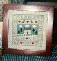 "Counted Cross Stitch Pattern ""Home Sweet Home"" Sampler - $5.00"