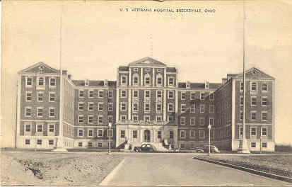 Primary image for Veterans Hospital Brecksville Ohio Vintage Post Card