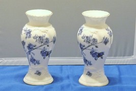Two Elizabeth Rose Bone China Vases England - $14.00