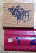 Ladys at the laundromat vintage style Rubber Stamp made in America - $9.00