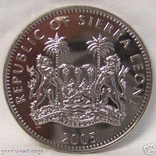 SIERRA LEONE AMAZING AFRICAN GORILLA CUNI 2005 COIN UNC