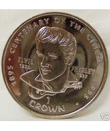 GIBRALTAR CENTENARY CINEMA ELVIS 96 CROWN CUNI COIN UNC - $22.24