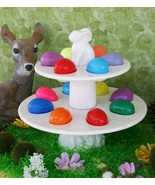 POTTERY BARN CERAMIC TIERED EASTER EGG STAND –NIB– AN EGGS-TRA SPECIAL P... - $149.95