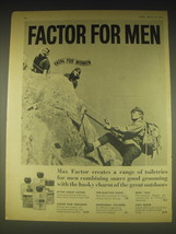 1962 Max Factor Toiletries for Men Ad - Factor for Men Fatal for Women - $14.99