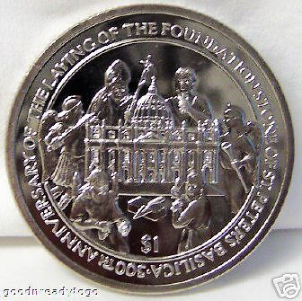 POPE BENEDICT XVI 500 ANNIVERSARY OF ST PETERS SLE COIN