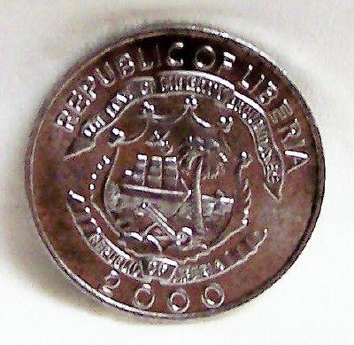 LIBERIA DRAGON 2000 5 CENT ALUMINUM COIN UNC