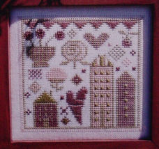 "Counted Cross Stitch Pattern ""In the Pink"" Sampler - $5.00"