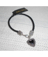 Cookie Lee Bracelet with Silver & Black Charm - Item #99371 - Great Gift... - £5.64 GBP