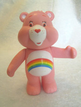 "CARE BEARS Pink Cheer Bear 4"" Rattle Plastic Vintage Figure Playmates To... - $9.98"