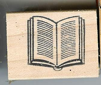 Primary image for Open Book  Rubber Stamp for those who are ?? made in America