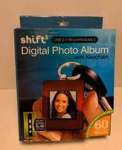 SHIFT3 Digital Photo Album Keychain USB 2.0 Rechargable 8MB 60 Images GIFT - $8.99