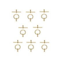 Toggle Clasps, 8 Sets, 12mm - Gold - $3.49