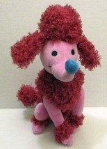 """DISNEY STORE EXCLUSIVE PINK POODLE DOG 11"""" ITS A SMALL WORLD PLUSH DOLL TOY - $7.99"""