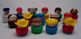 1990 Fisher-Price Little People CHUNKY FIGURES TOY LOT Dog Farmer - $19.80