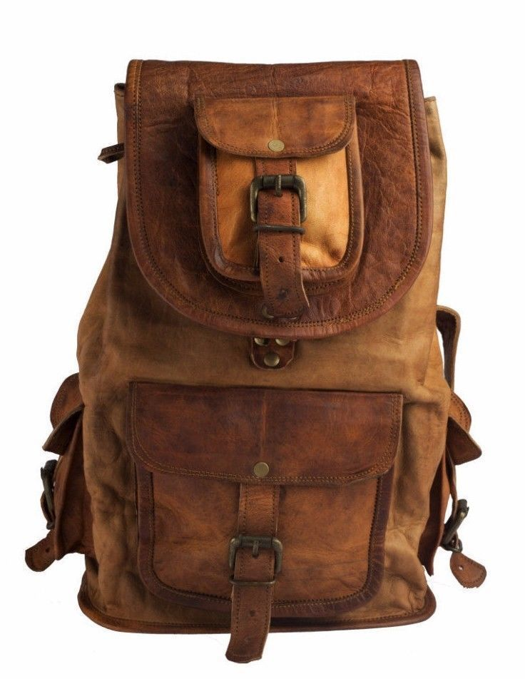 New Handmade Genuine Vintage Leather Ladies Backpack Rucksack Travel Gift Bag