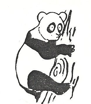 Primary image for Panda Up a tree Bear  Rubber Stamp  made in america free shipping