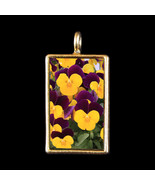 Pansies - Photograph Pendant by KVW - $19.99