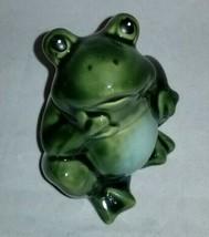 Posing Green Ceramic Garden Frog NEW - £8.02 GBP