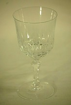 "Classic Elegant Clear Crystal Long Stem Wine Glass Unknown Maker 6-1/4"" Tall a - $16.82"