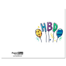 HBO Balloons Birthday Card --- with Custom Handwritten Message - mailed to yo... - $2.23