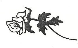 Rose flower Rubber Stamp floral made in america free shipping original d... - $13.63