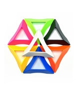 7pcs Seven Colors Triangle Pokeball and Magic Cube Base,7.5cm - $10.50