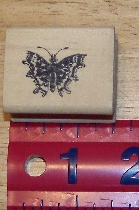 Primary image for Small detailed Butterfly Rubber Stamp made in America