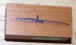Sword knife Rubber Stamp  - $9.99