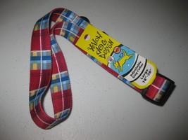 "Adjustable Dog Collar by Yellow Dog Design, Large 18"" - 28"" Madras Burgundy - $11.87"