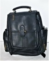 Claire Chase Executive Computer Backpack Leather Laptop Shoulder Carry Bag - $123.97