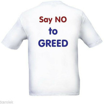 Protest T-Shirt GREED Say NO Vote With Your Shirt Free Shipping NWT - $20.20