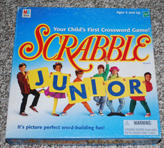 Scrabble Junior Board Game Milton Bradley Ages 5+ Homeschool Word Buildi... - $24.70
