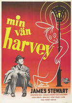 Harvey Movie Poster 27X40 In Jimmy Stewart Swiss 69X101 Cm Elwood P. Dowd Rare - $34.95