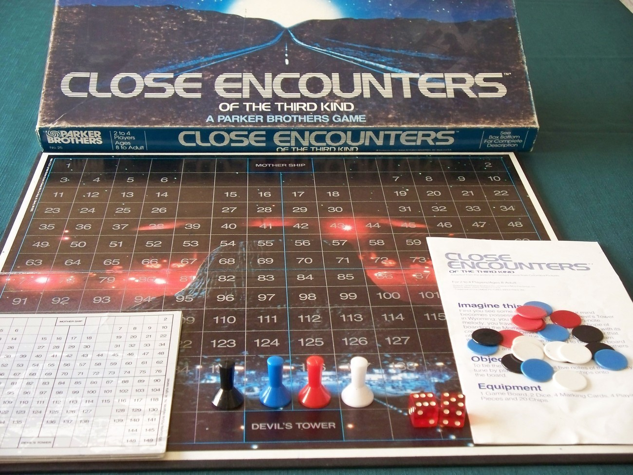 Close Encounters Of The Third Kind Board Game 1977 Complete