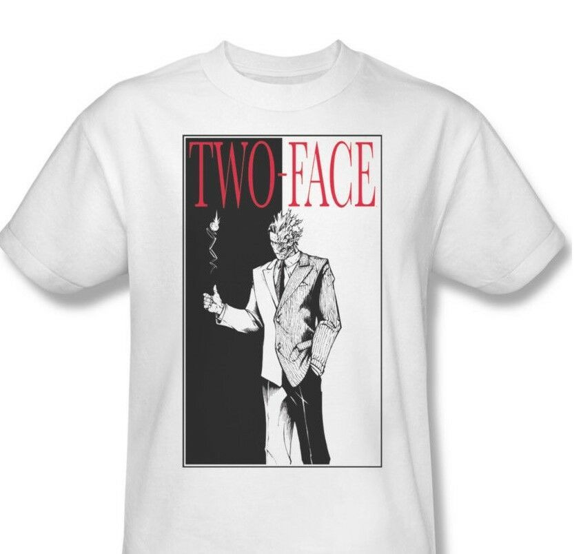 Two Face T shirt Harvey Dent DC superhero villian Joker Batman cotton tee BM1311