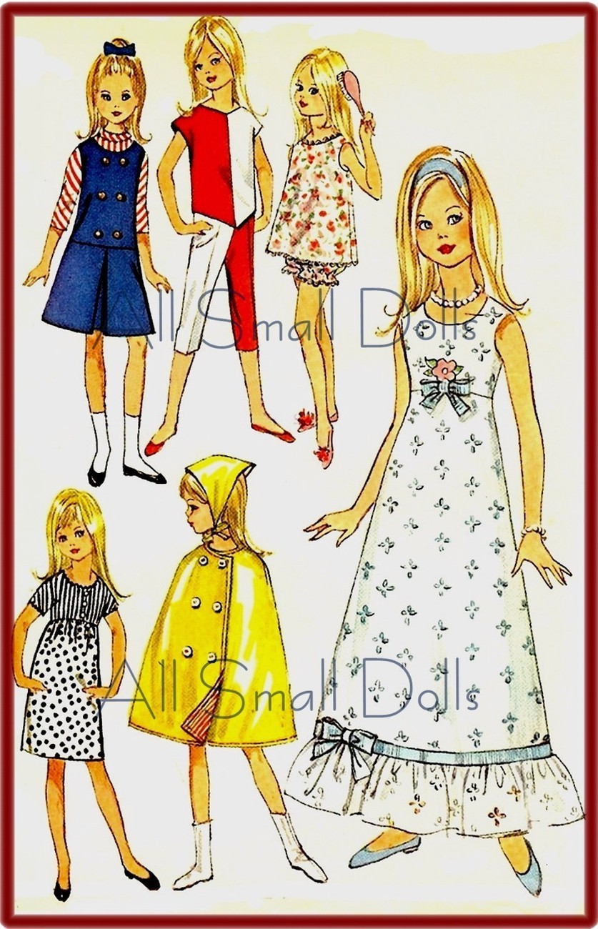 "Primary image for Vintage Doll Clothing Pattern for 9 1/2"" Skipper ~ No.5"