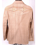 Vtg WESCOTT Canada Western Shirt/Jacket-Embroidered-44-Tan-Button Up-Poc... - $46.74